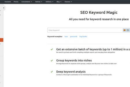 Cómo funciona SEO Keyword Magic, de SEMrush